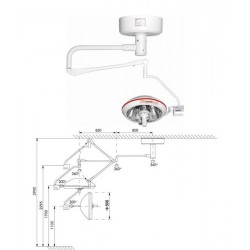 Одно Рефлекторная бестеневая операционная лампа 500