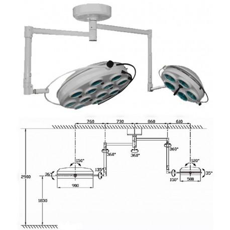 Операционная лампа холодного свечения 02 5+12