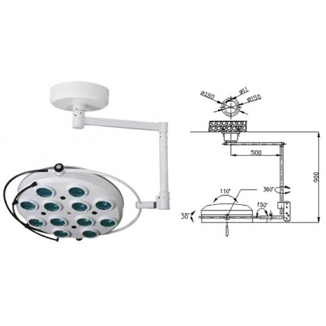 Операционная лампа холодного свечения 02-12