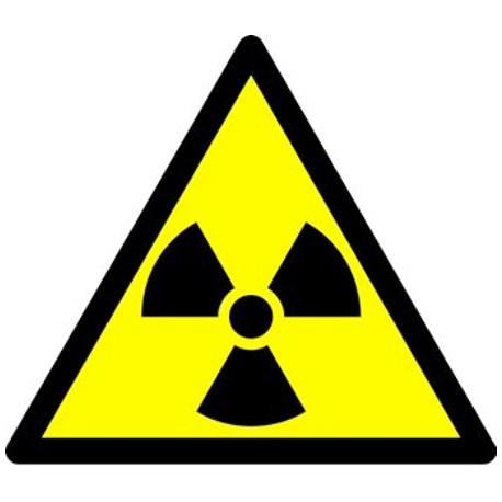 """Наклейка """"Опасно, радиоактивные вещества или ионизирующие излучение"""""""